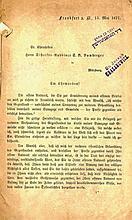 Rabbi Samson Refael Hirsch's Response to Rabbi Yitzchak Dov Bamberger of Wurzburg, 1877