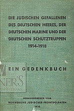 Memorial Book to the Jewish Soldiers in the German Army who Died During the First World War