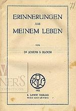 Joseph Samuel Bloch. Leben Meinem aus Erinnerungen. Vienna, 1922