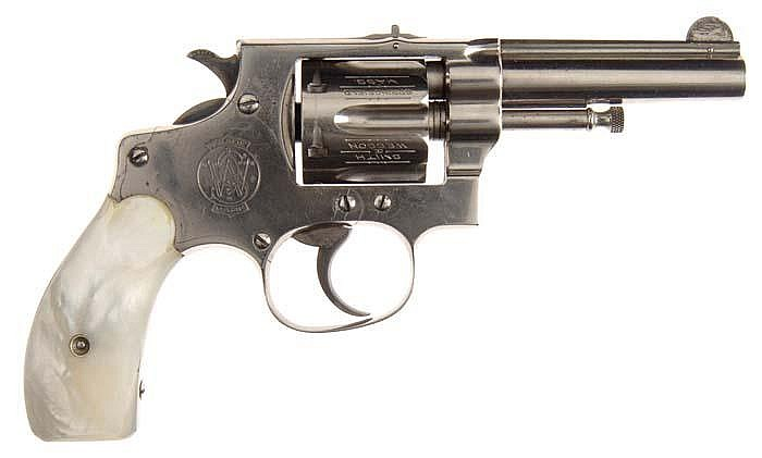 SMITH  &  WESSON FIRST MODEL, MODEL OF 1896 HAND EJECTOR DA REVOLVER
