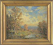VIVIAN MILNER AKERS (American, 1886-1966) MAINE AUTUMN LANDSCAPE