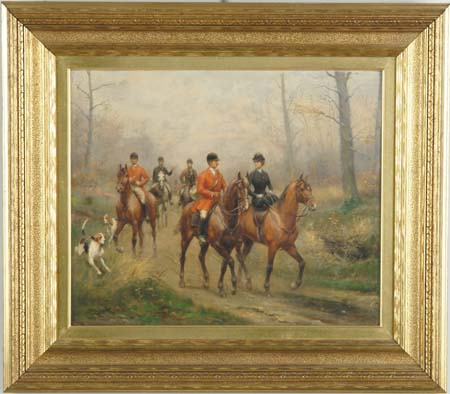 PAUL EMILE LEON PERBOYRE (French, 1851-1929) BACK FROM THE HUNT