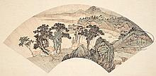 TWO PAINTED LEAVES IN THE MANNER OF YING YEPING.