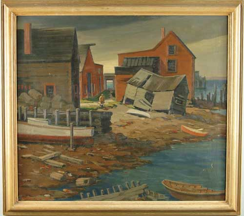 CARROLL THAYER BERRY (American, 1886-1978) KNIGHT'S BOATYARD