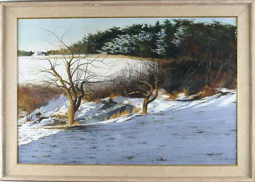 THOMAS CROTTY (American, 20th Century) MAINE WINTER LANDSCAPE