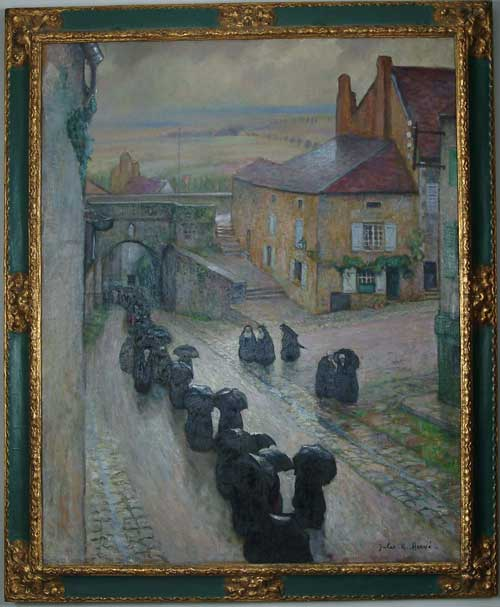 "JULES RENE HERVE (French, 1887-1981) ""TEMPS GRIS A LANGRES"" (""Cloudy Day in Langres, France"")"