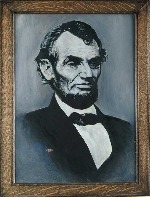 CHARLES FRACE (American, 1926-) PORTRAIT OF ABRAHAM LINCOLN