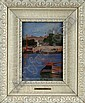 HENRY SALEM HUBBELL (American, 1870-1949) HARBOR SCENE, Henry Salem Hubbell, Click for value