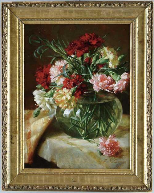 EMMA LEVINIA SWAN (American, 1853-1927) STILL LIFE OF FLOWERS