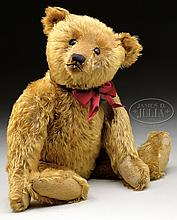 LOVELY AND EARLY STEIFF BEAR WITH BUTTON.