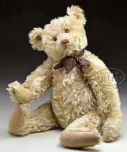 GORGEOUS WHITE STEIFF 1920s ERA TEDDY BEAR WITH BUTTON.