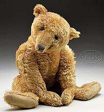 DELIGHTFUL VERY EARLY LARGE STEIFF BEAR WITH BUTTON.
