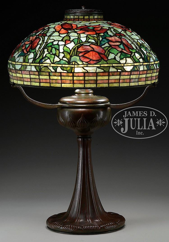 Tiffany Studios Irregular Poppy Table Lamp