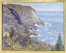 B. MILLER (American, 19th/20th Century) BLACKHEAD MONHEGAN