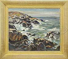 WILLIAM LESTER STEVENS (American, 1888-1969) OCEAN POINT, MAINE