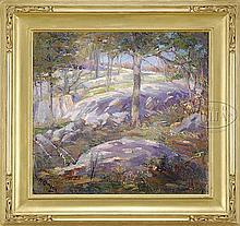 MAURICE COMPRIS (American, 1885-1936) SUMMER SPLENDOR, ROCKPORT