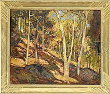 WILLIAM LESTER STEVENS (American, 1888-1969) HILLSIDE LANDSCAPE IN FALL