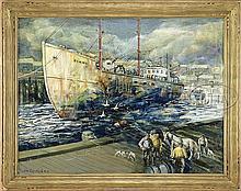 JOHN R. GRABACH (American, 1886-1981) GLOUCESTER FISHING BOAT