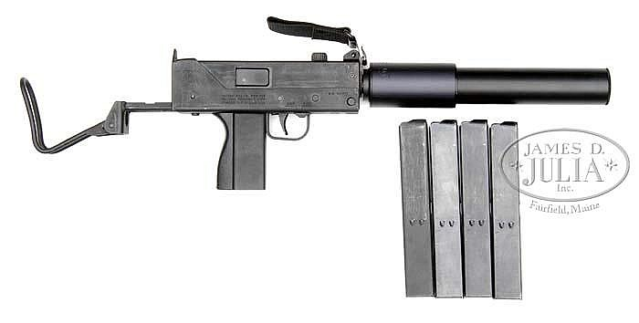 **INGRAM M10 SUBMACHINE GUN AND ORIGINAL MAC SILENCER (Fully Transferable).