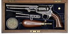 WONDERFUL CASED COLT LONDON MODEL 1849 POCKET PERCUSSION REVOLVER.