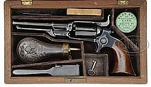 SCARCE CASED COLT 1855 ROOT MODEL 5A PERCUSSION REVOLVER.