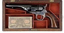 SCARCE CASED RICHARDS CONVERSION OF COLT MODEL 1862 POLICE REVOLVER.