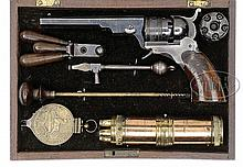 VERY RARE CASED COLT PATERSON #2 BELT MODEL PERCUSSION REVOLVER WITH ALL ACCESSORIES.