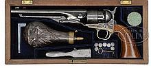 RARE CASED COLT MODEL 1860 ARMY PERCUSSION REVOLVER.