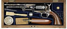 VERY RARE CASED COLT 3RD MODEL LONDON DRAGOON PERCUSSION REVOLVER.