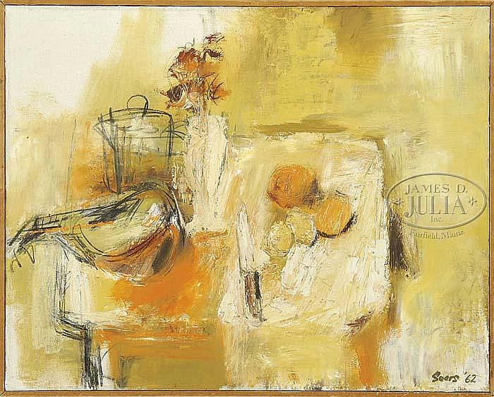 OLGA ITASCA SEARS (American, 1906-1990) STILL LIFE ABSTRACT.
