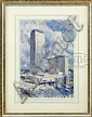 RALPH HILLYER AVERY (American, 1906-1976) PRUDENTIAL CENTER, BOSTON., Ralph Hillyer Avery, Click for value