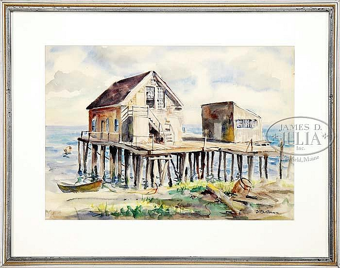 VOLLIAN BURR RANN (American, 1897-1956) THE OLD PROVINCETOWN PLAYHOUSE.