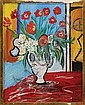 YVONNE MOTTET (French, 1906-1968) MODERNIST FLORAL STILL LIFE., Yvonne Mottet, Click for value
