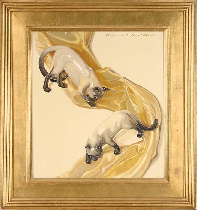 KENNETH STEVENS MACINTIRE (American, 1891-1979) SIAMESE CATS