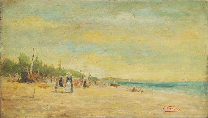 JULES VERNIER (French, 1862) BEACH AT LOW TIDE