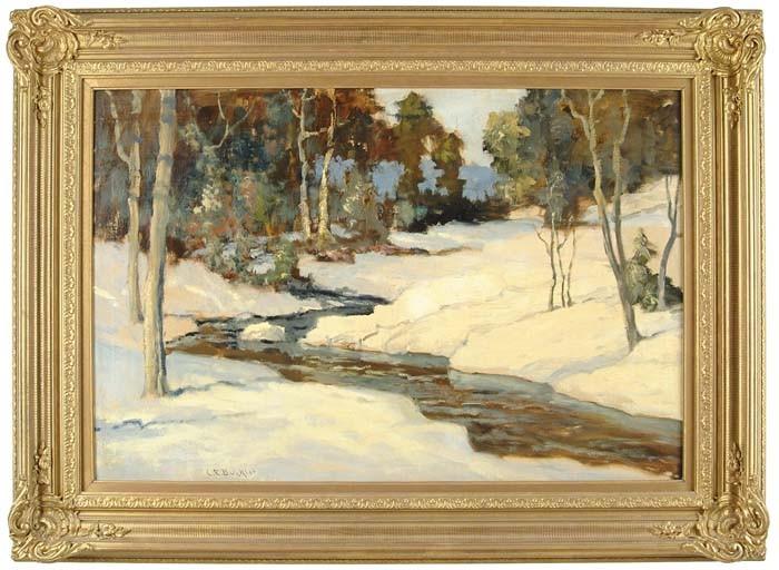 CHARLES E BUCKLER (American, 1869-1953) SNOWY BROOK