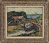 ANDREW WINTER (American, 1893-1958) SAWMILL, MONHEGAN MAINE., Andrew George Winter, $1,000