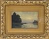 CHARLES FRANCOIS DAUBIGNY (French, 1817-1878) BARBIZON RIVER LANDSCAPE., Charles Francois Daubigny, $1,500