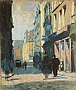 ATTRIBUTED TO LESSER URY (German, 1861-1931) STREET SCENE., Lesser Ury, $800