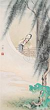 STYLE OF HU YEFU (Chinese, 20th Century) LADY IN WINDOW.