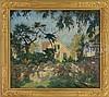 WILLIAM LESTER STEVENS (American, 1888-1969) GLOUCESTER FARM HOUSE WITH STONE WALL., William Lester Stevens, $10,000