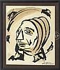 CANDIDO PORTINARI (Brazil, 1903-1962) SKETCH OF A WOMAN'S HEAD., Candido Portinari, $1,000