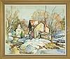 WILLIAM LESTER STEVENS (American, 1888-1969) MOORES CORNER, LEVERETT, MA., William Lester Stevens, $1,500
