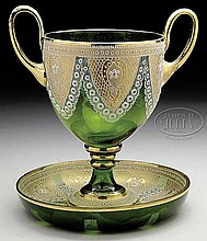 MOSER DOILY-WORK LOVING CUP AND BOWL.