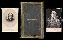 19TH CENTURY AUTOGRAPH ALBUM OF MAGGIE MALLORY, DAUGHTER OF CONFEDERATE SECRETARY OF NAVY, STEPHEN R. MALLORY.