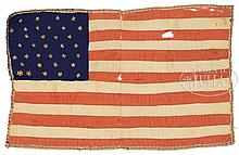 WONDERFUL AND RARE 34 STAR AMERICAN BIBLE FLAG.