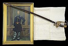 CAPTAIN LUIS EMILIO ARCHIVE INCLUDING HIS PRESENTATION AMES 1850 STAFF OFFICER'S SWORD, CARRIED WHEN HE WAS AN OFFICER WITH THE FAMOUS BLACK REGIMENT, THE 54TH MASSACHUSETTS, AND WAS WITH HIM AT THE FAMOUS ASSAULT OF FORT WAGNER, JULY 18, 1863.
