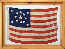 13-STAR AMERICAN CENTENNIAL FLAG, VIRGINIA DESIGN.