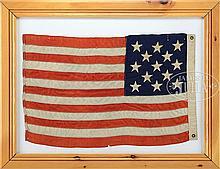 13-STAR AMERICAN CENTENNIAL FLAG, 1876.