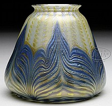 LOETZ ART GLASS SHADE.